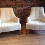 beyaz modern berjer koltuk modelleri 85