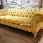 chester sarı klasik koltuk